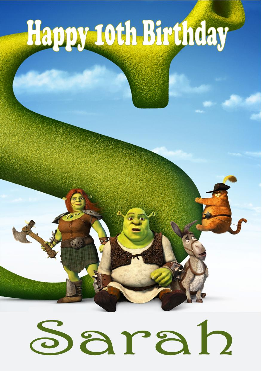 Personalised Shrek Birthday Card