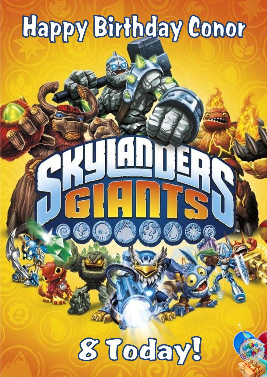 Personalised Skylander Giants Birthday Card
