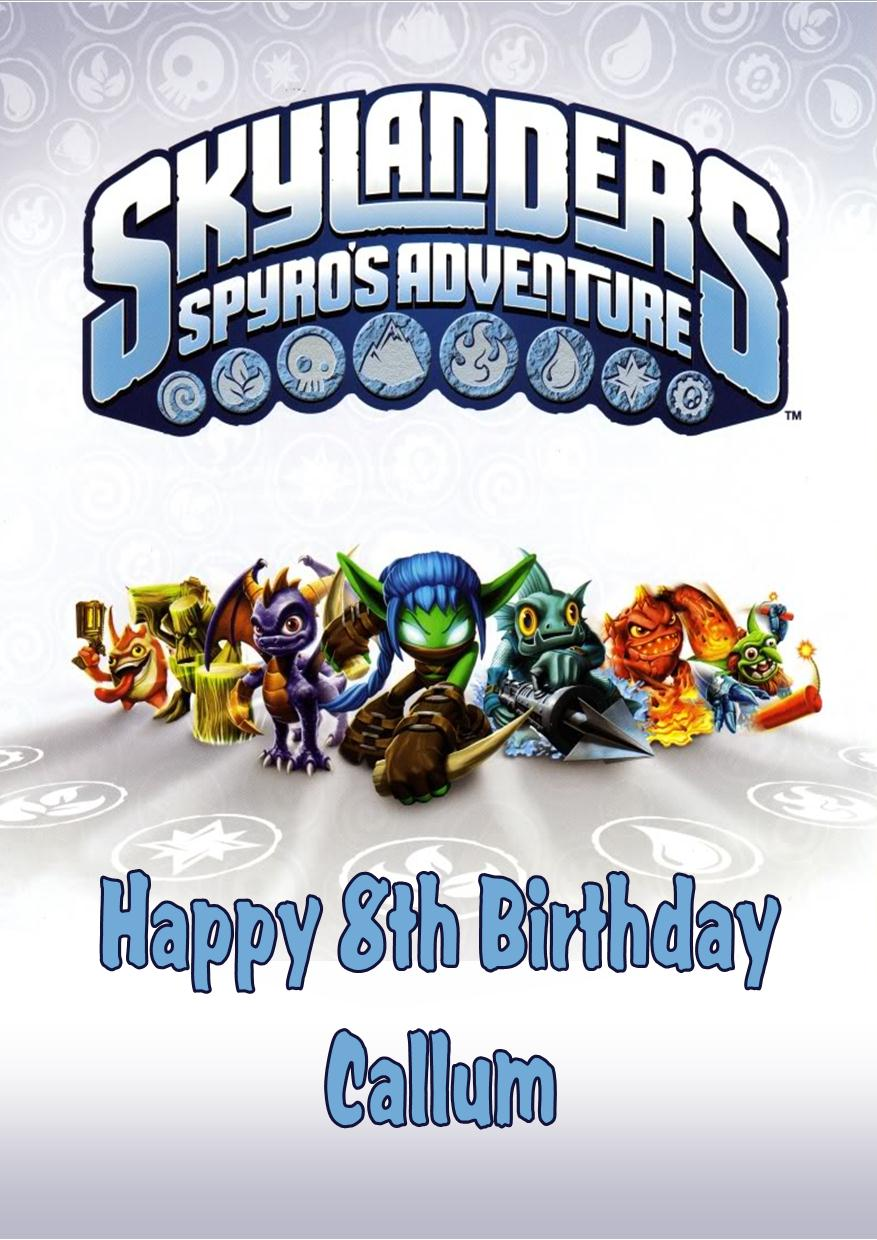 Personalised Skylanders Birthday Card 1247 P