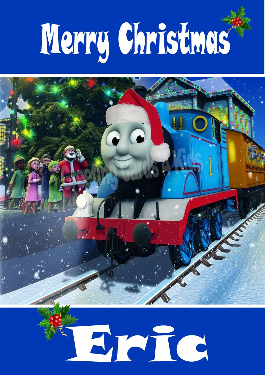 Personalised Thomas The Tank Engine Christmas Card 1