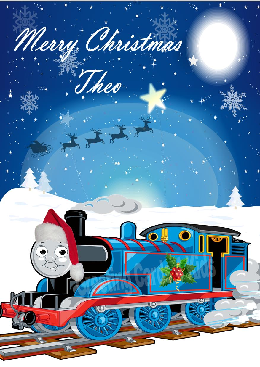 Personalised Thomas The Tank Engine Christmas Card 2