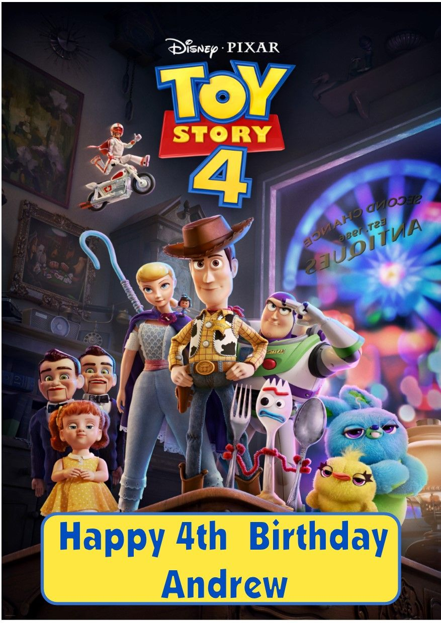 personalised toy story birthday card design 4