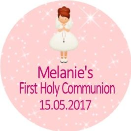Red Hair Girl Communion Sticker